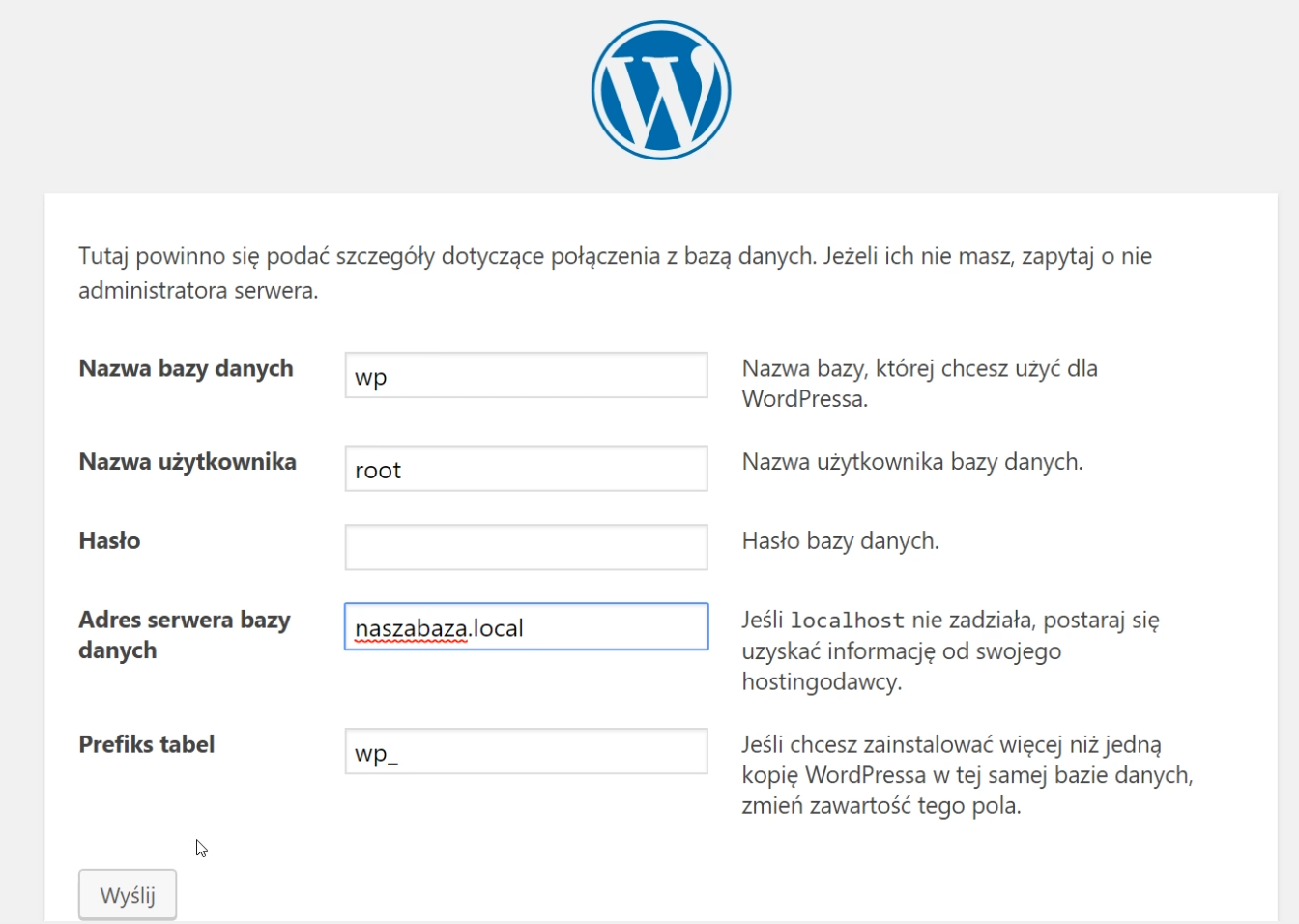 Instalator WordPress.php