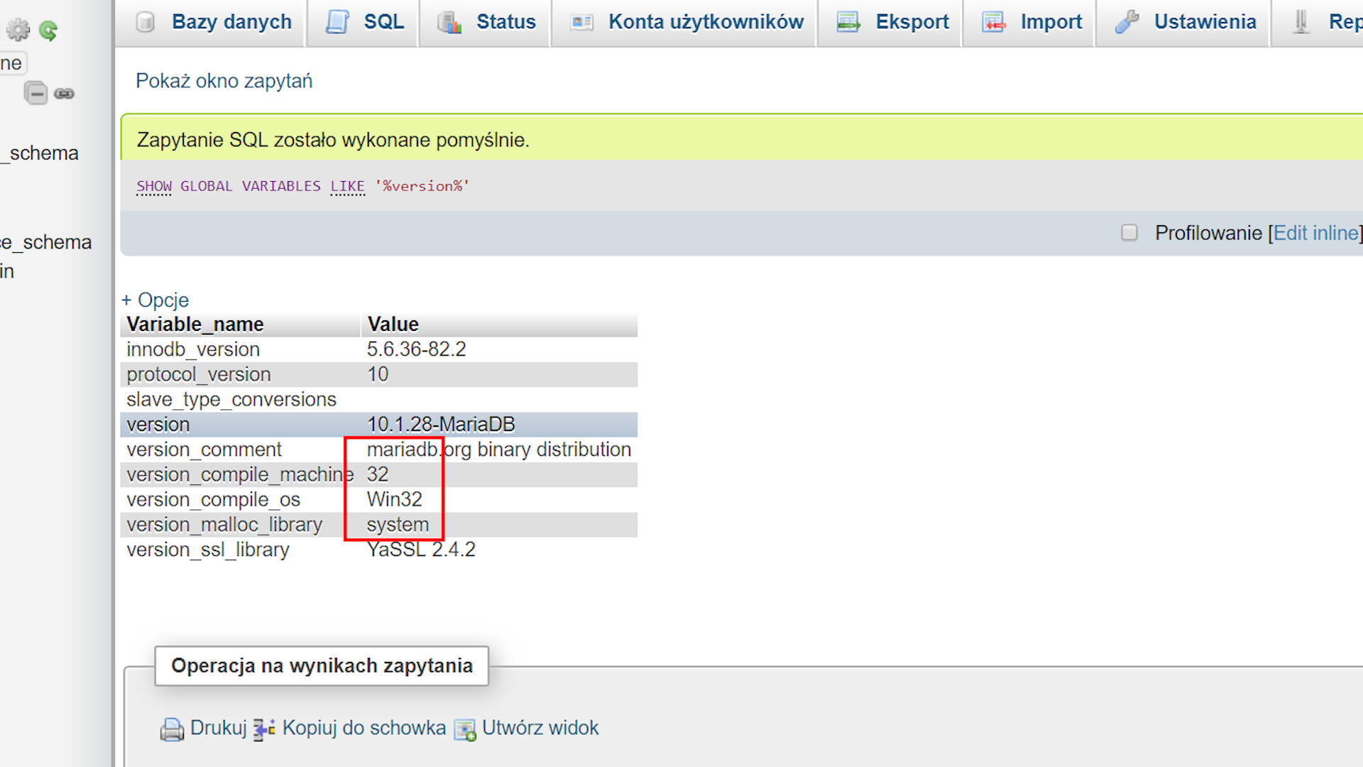 MariaDB pod Windowsem
