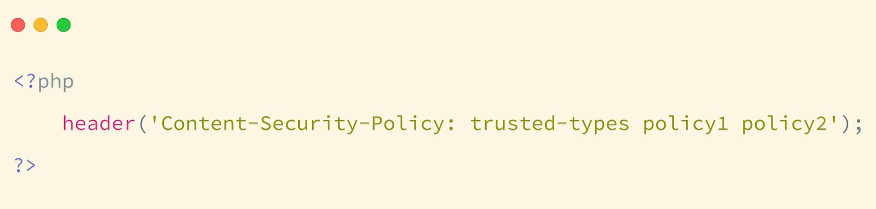 Obsługa wielu polityk Trusted Types