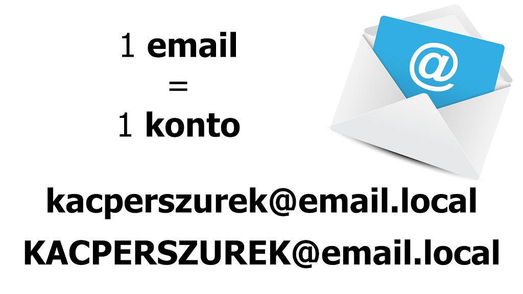 1 email to 1 konto