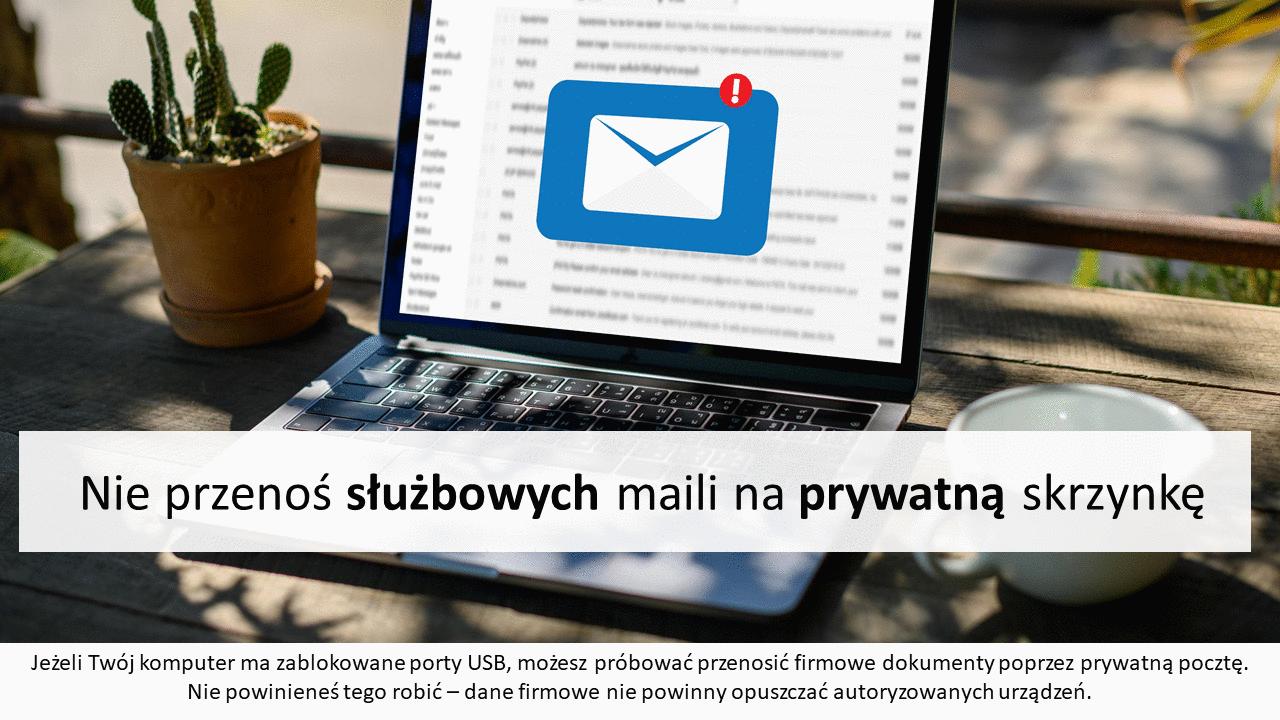 Nie kopiuj firmowych maili