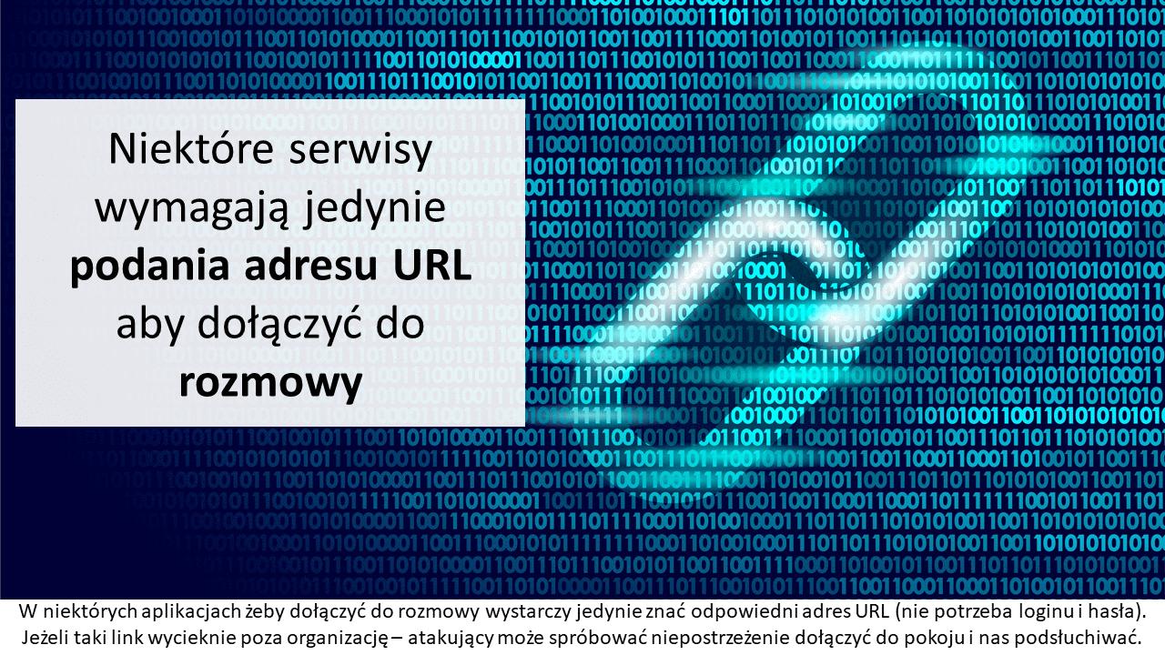 Niektóre serwisy wymagają jedynie podania adresu URL aby dołączyć do rozmowy