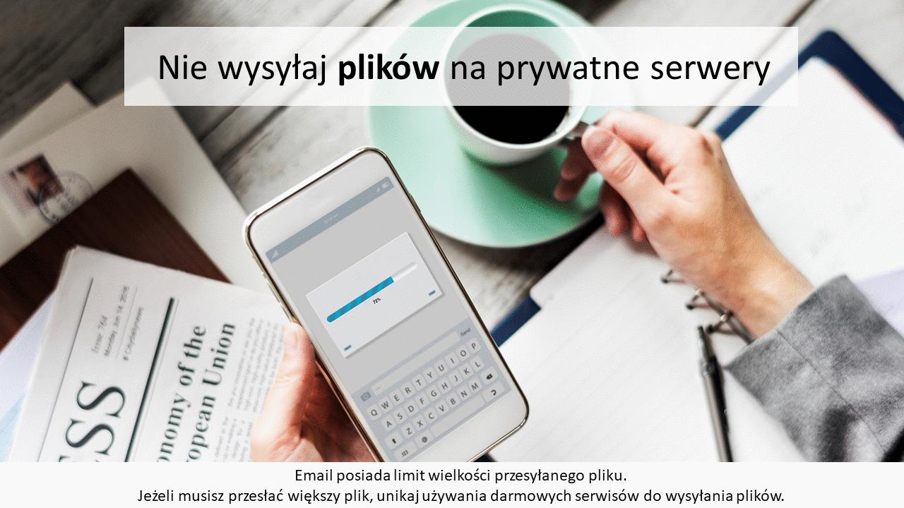 Nie wysyłaj plików na prywatne serwery
